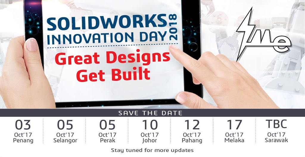 IME SOLIDWORKS Innovation Day 2018 – Save the Date