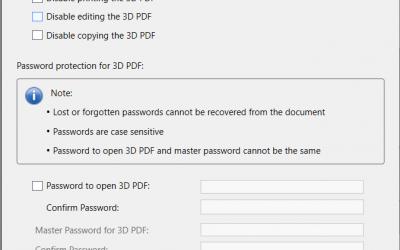 SOLIDWORKS MBD 3D PDF Security Options