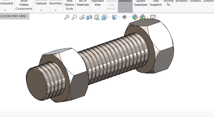 SOLIDWORKS Hidden feature: Designing your own Screw and Nut